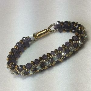 "Artist Handmade Swarovski Crystal Bracelet - 7"""